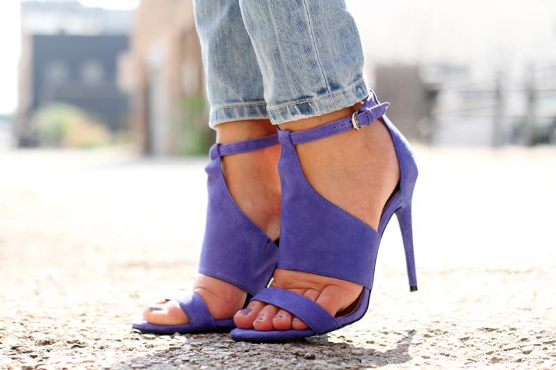 blue BCBG heels