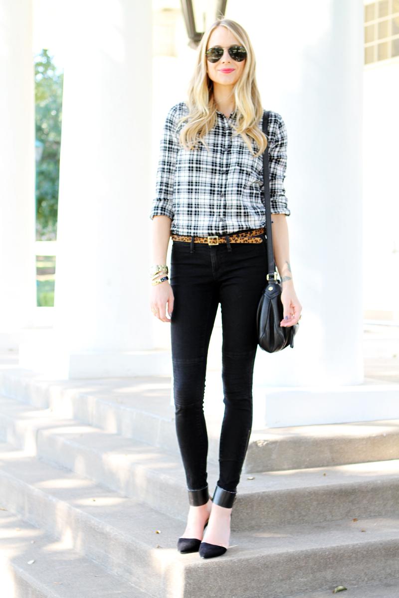 Black Amp White Plaid Fashion Jackson