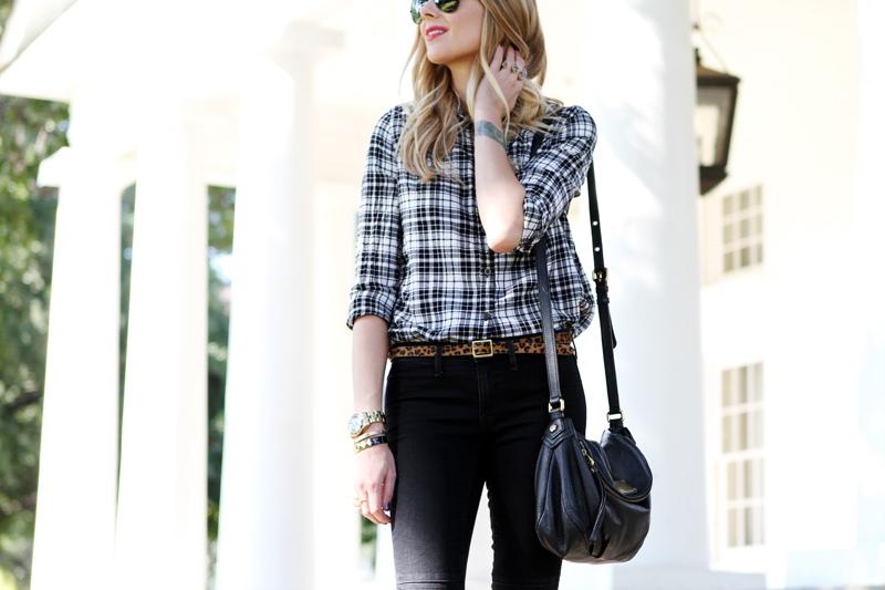 Black & White Plaid Shirt