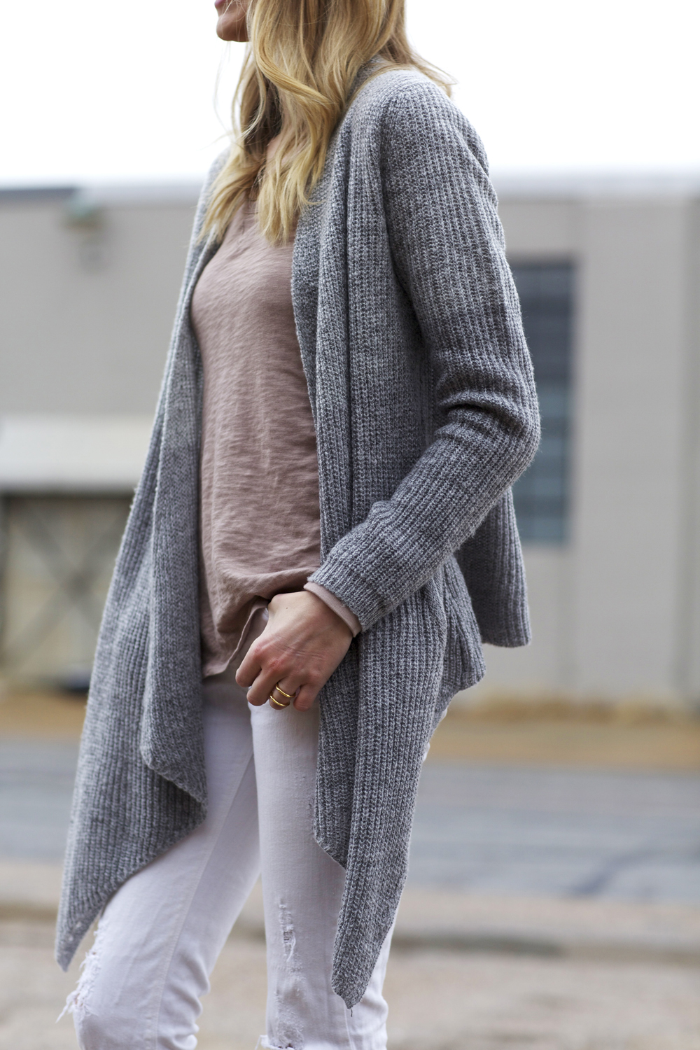 GREY COZY CARDIGAN | Fashion Jackson