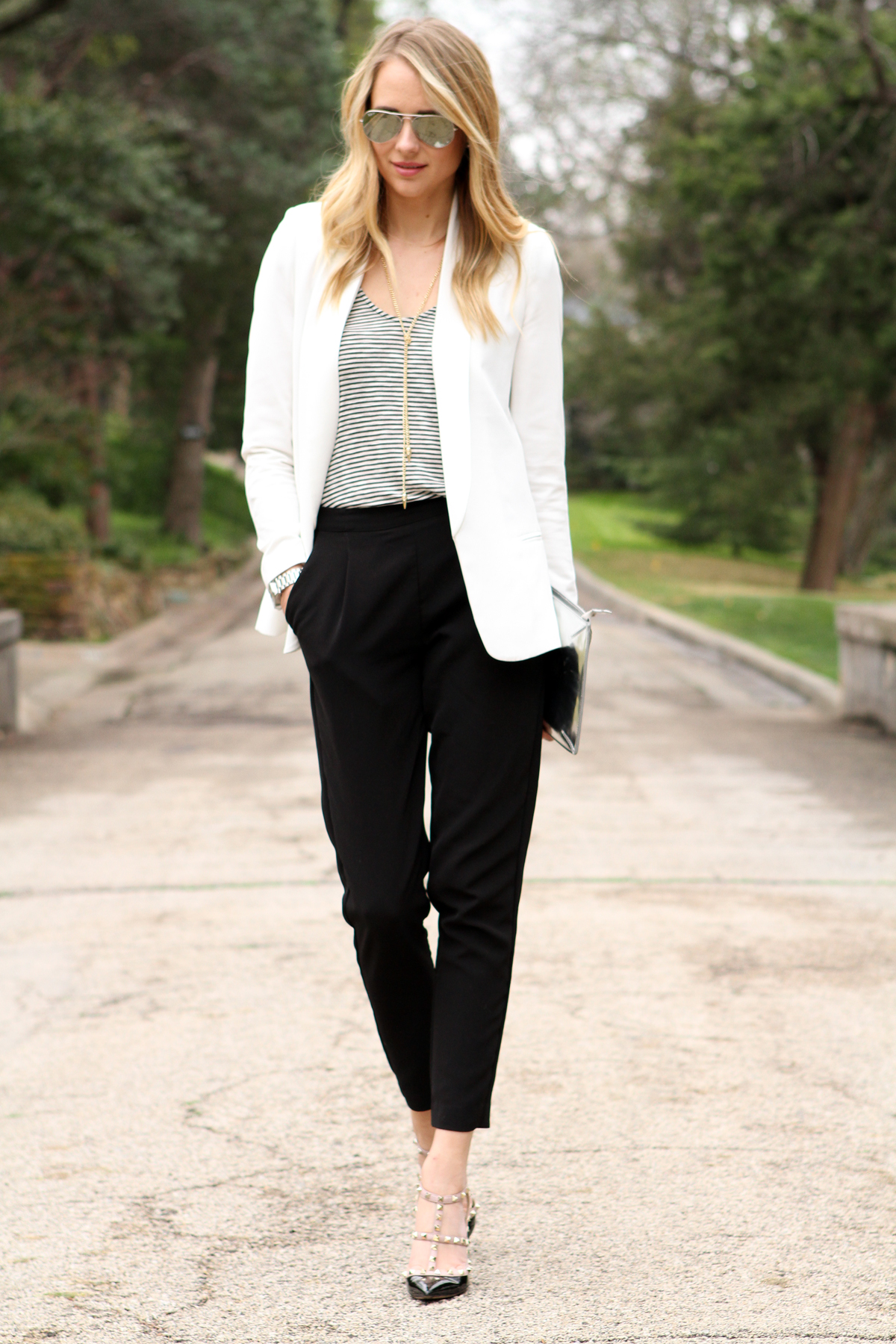 WHITE BOYFRIEND BLAZER | Fashion Jackson