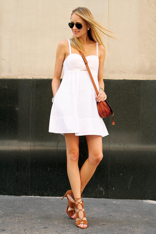 Tan Lace Casual Dress