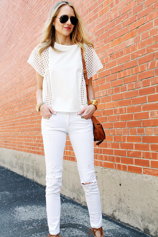 WHITE EYELET TOP &amp SKINNY JEANS | Fashion Jackson