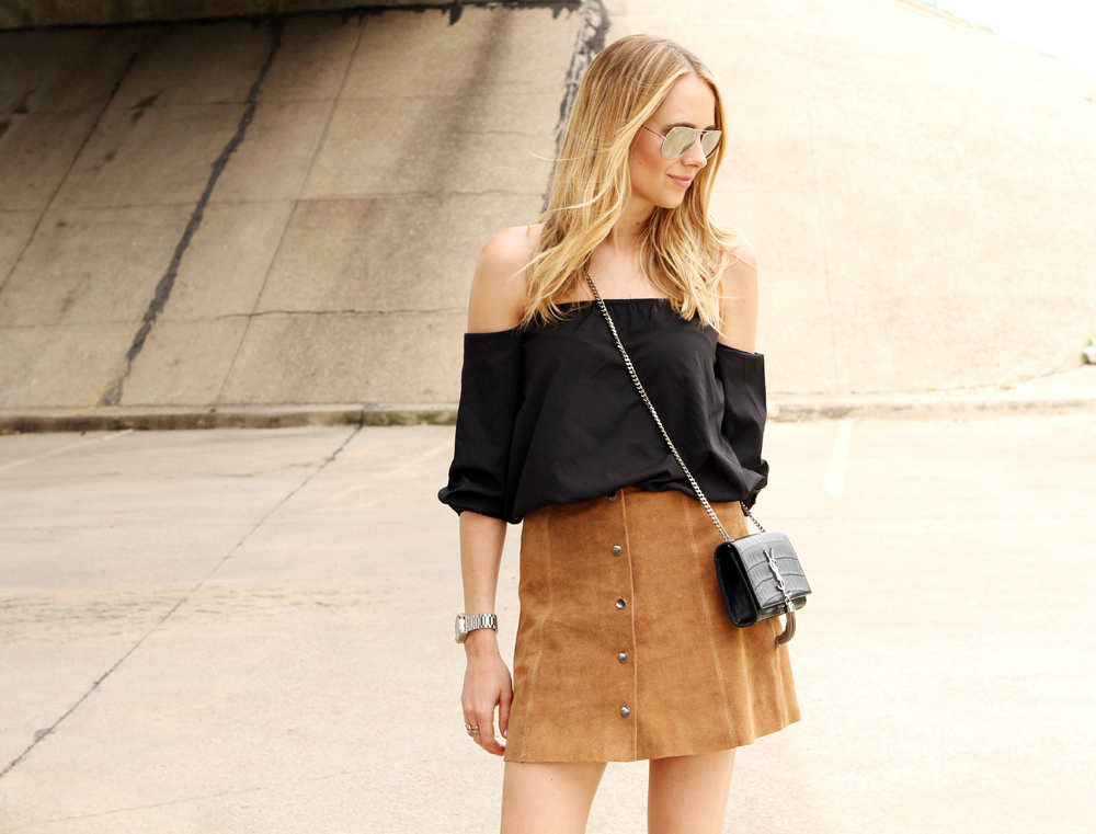 TAN SUEDE MINI SKIRT | Fashion Jackson