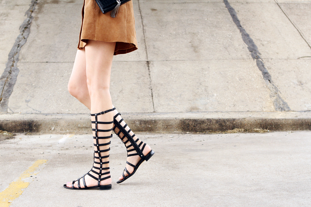 stuart weitzman black gladiator sandals