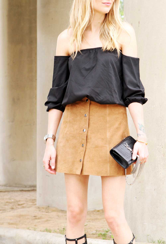 TAN SUEDE MINI SKIRT | Fashion Jackson