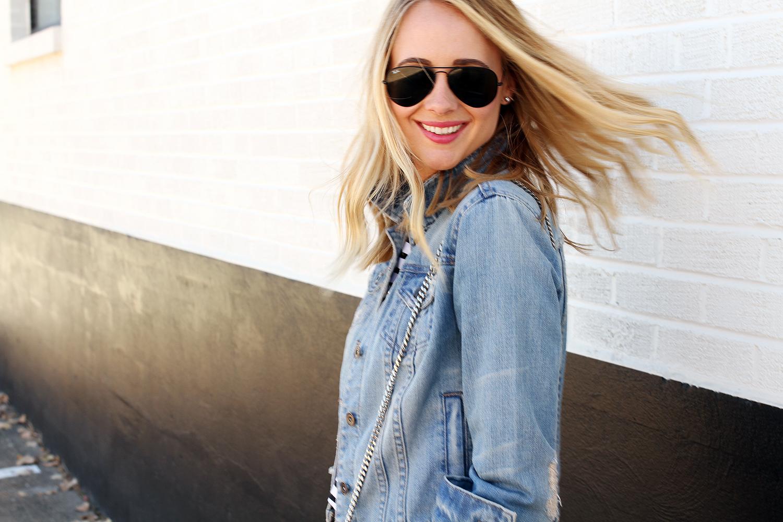 fashion-jackson-denim-jacket-black-aviator-sunglasses
