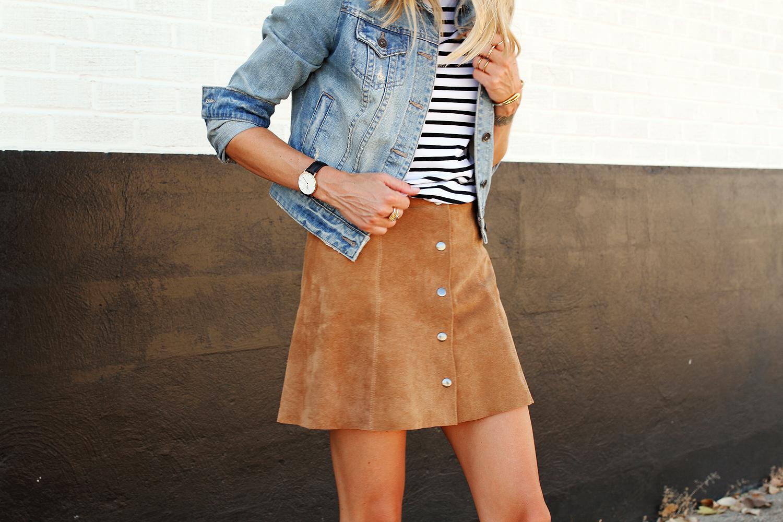 fashion-jackson-denim-jacket-topshop-suede-mini-skirt-stripe-top