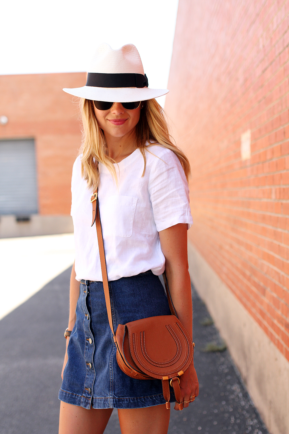 Jean skirt and top – Modern skirts blog for you