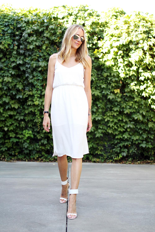 Summer White Midi Dress Fashion Jackson