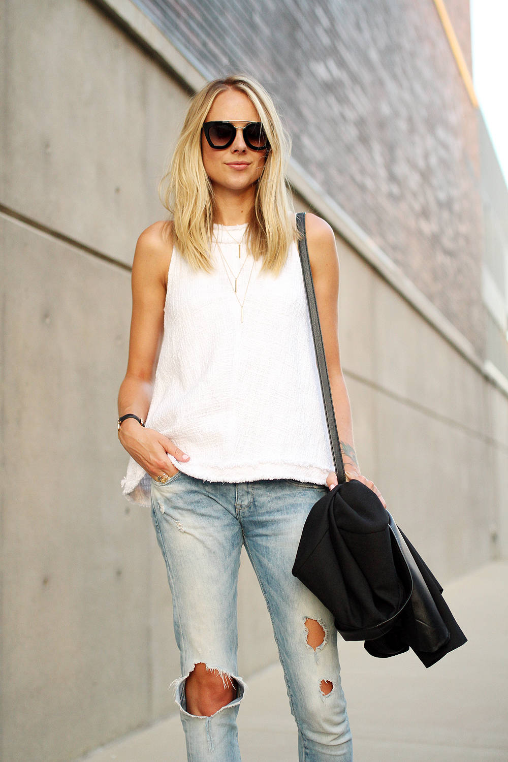 Top Fashion Trends 2014: FRINGED TWEED TOP