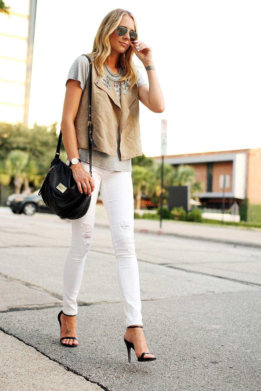 Tan Suede Vest Fashion Jackson