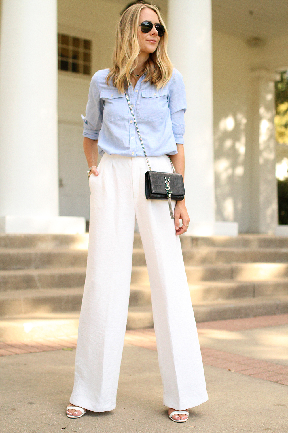 WHITE WIDE LEG PANTS | Fashion Jackson