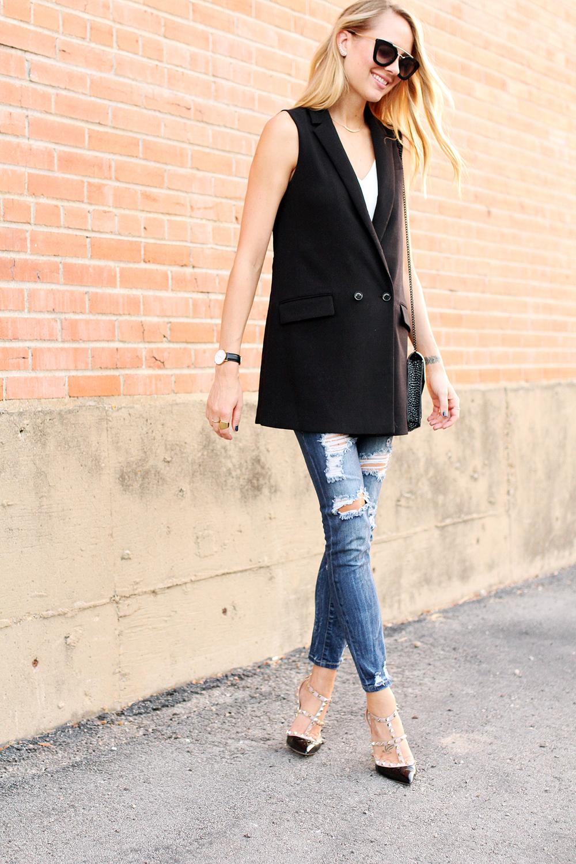 fashion-jackson-banana-republic-black-long-line-vest-ripped-denim-skinny-jeans-prada-sunglasses-valentino-rockstuds