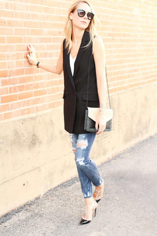 fashion-jackson-banana-republic-black-long-line-vest-ripped-skinny-jeans-loeffler-randall-handbag-prada-sunglasses-valentino-rockstuds