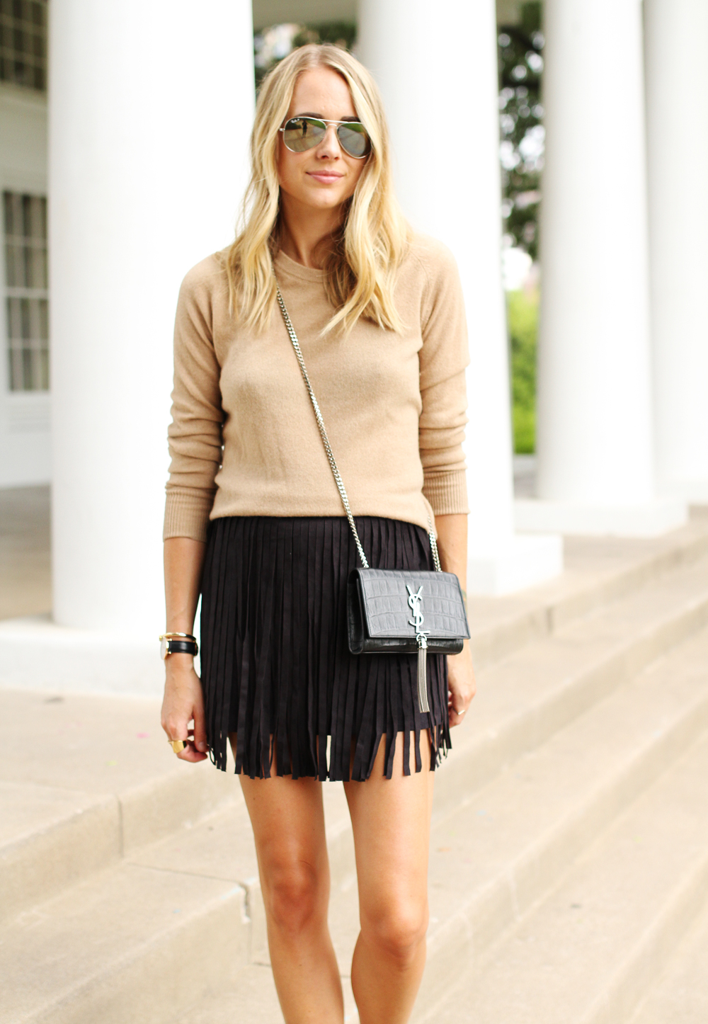 Fringe Mini Skirt Fashion Jackson