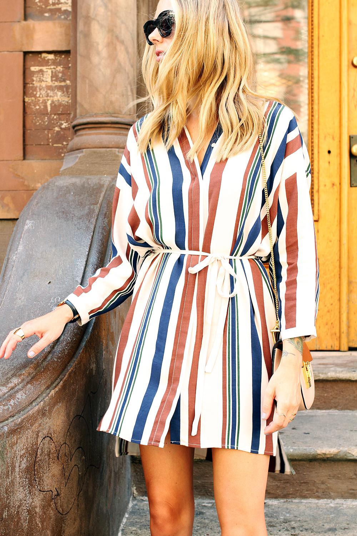 Black t shirt dress topshop - Fashion Jackson Topshop Stripe Shirtdress Nude Lace Up Fashion Jackson Celine Black Sunglasses Chloe Mini Drew