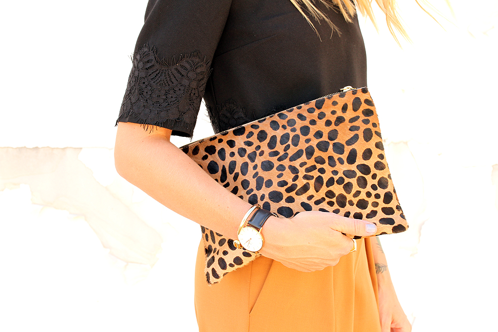 fashion-jackson-clare-v-leopard-clutch-daniel-wellington-watch