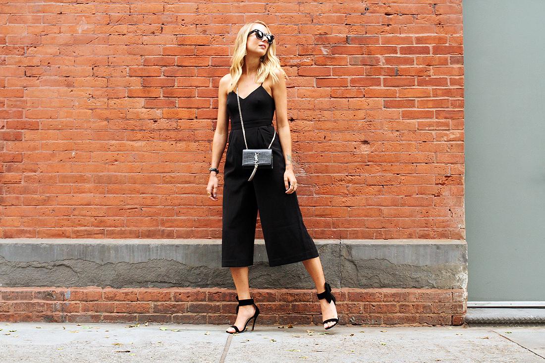 fashion-jackson-cameo-power-trip-jumpsuit-saint-laurent-cassandre-crossbody-handbag-black-bow-heels-celine-black-sunglasses-nyfw-street-style
