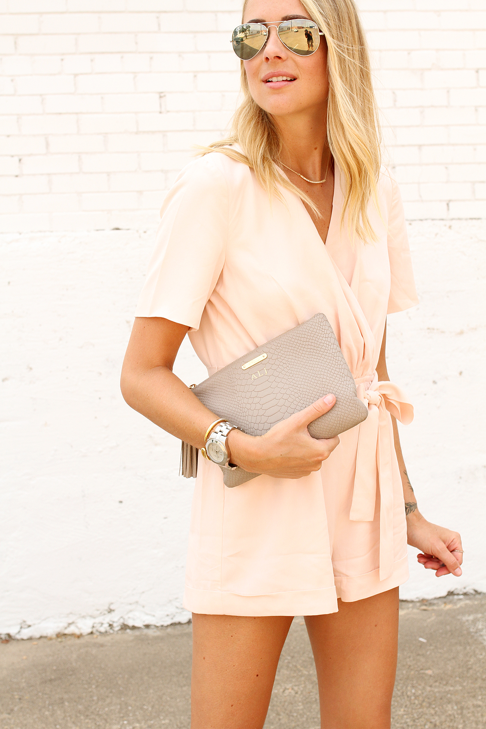 fashion-jackson-gigi-new-york-all-in-one-clutch-ray-ban-aviator-sunglasses-finders-keepers-reweind-playsuit-romper-pink