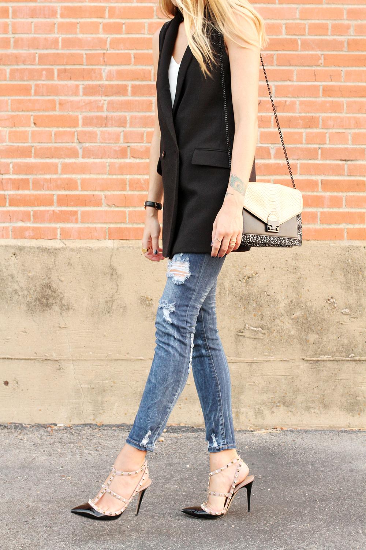 fashion-jackson-loeffler-randall-handbag-banana-republic-black-long-line-vest-ripped-skinny-jeans-prada-sunglasses-valentino-rockstuds