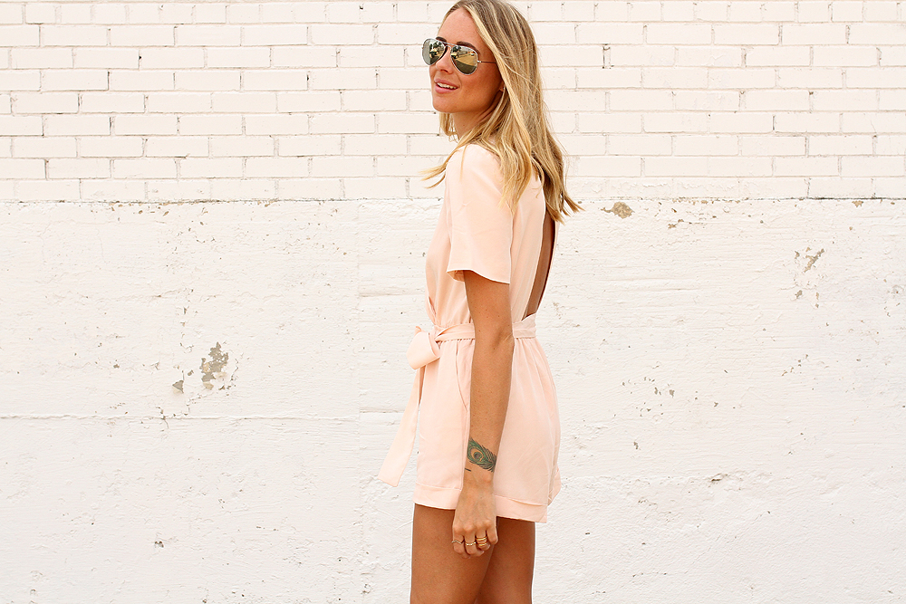 fashion-jackson-ray-ban-aviator-sunglasses-finders-keepers-rewind-playsuit-romper-pink