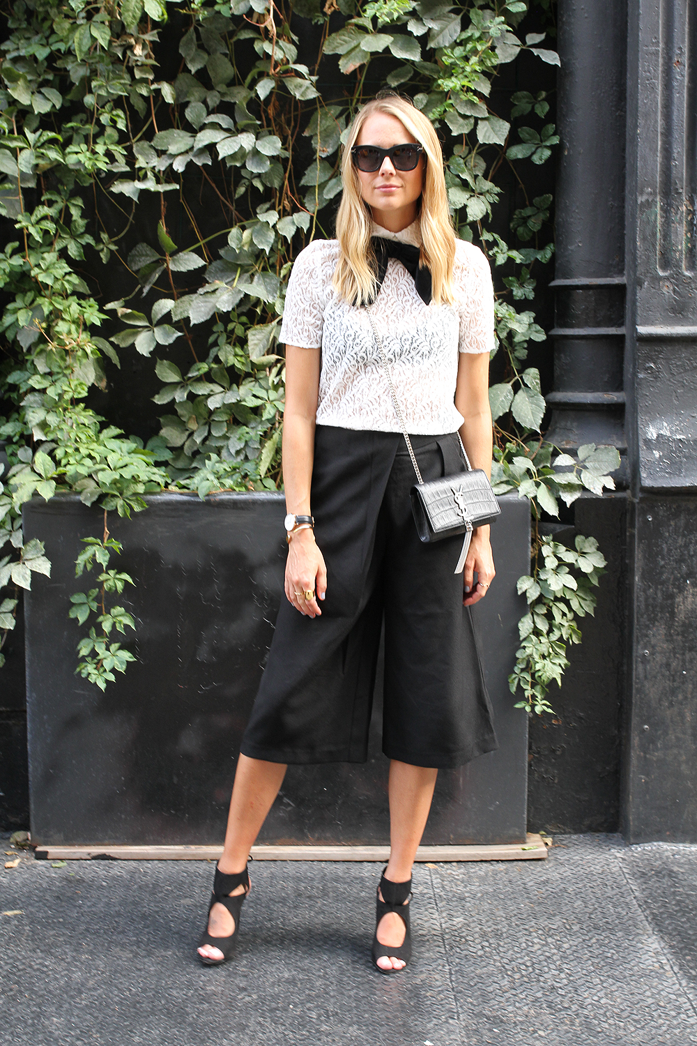 fashion-jackson-the-kooples-lace-top-cameo-the-label-culottes-black-aquazzura-sexy-thing-heels-similar-ysl-crossbody