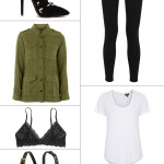 utility-jacket-black-jeans-black-lace-up-heels-white-tshirt-black-lace-bralette-prada-sunglasses-black-chloe-georgia-handbag