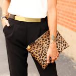 fashion-jackson-topshop-white-tank-black-trousers-gold-plaited-belt-clare-v-leopard-clutch