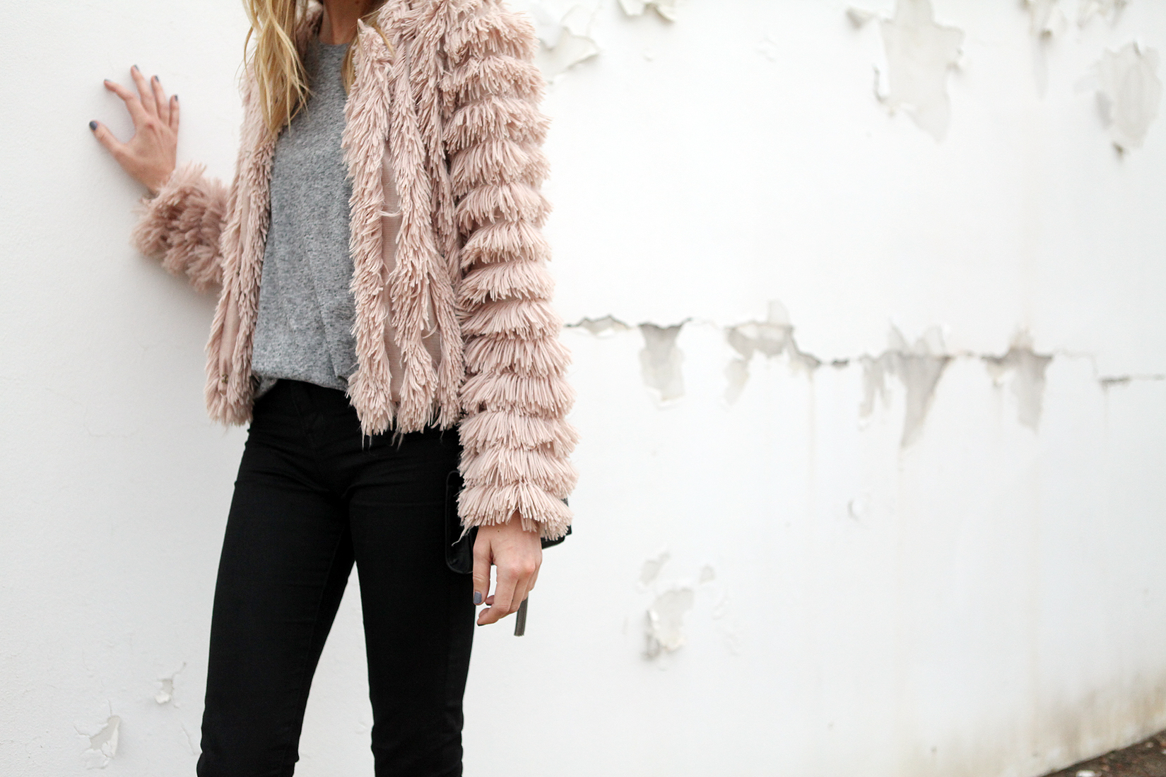 PINK FLUFFY COAT | Fashion Jackson