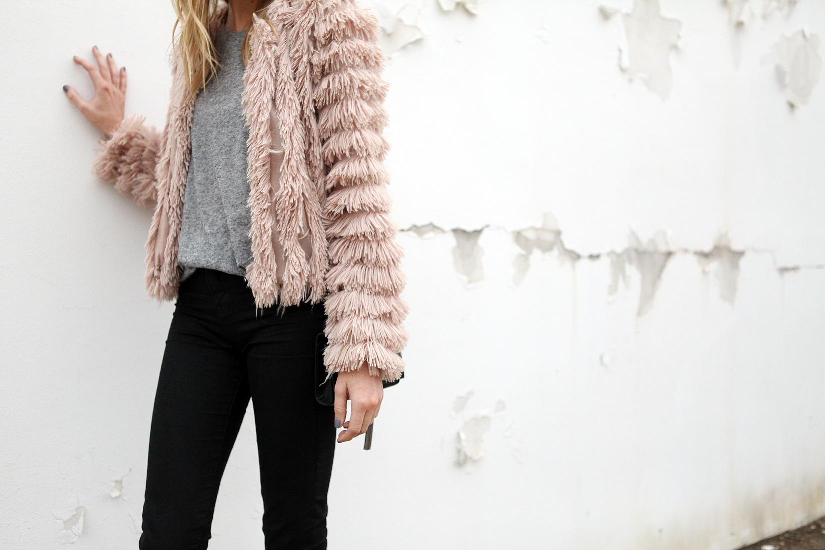 PINK FLUFFY COAT | Fashion Jackson