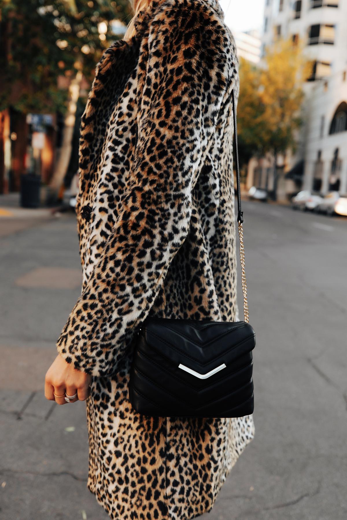 Fashion Jackson Wearing Express Faux Fur Leopard Coat