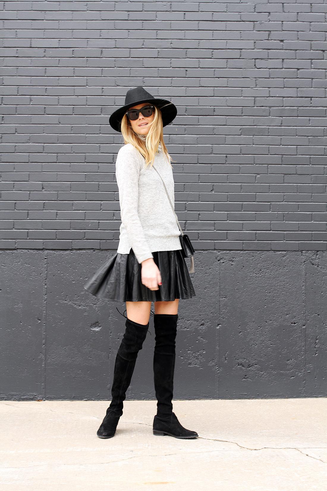 fashion-jackson-grey-sweater-black-pleated-skirt-stuart-weitzman-black-otk-boots-black-wool-hat