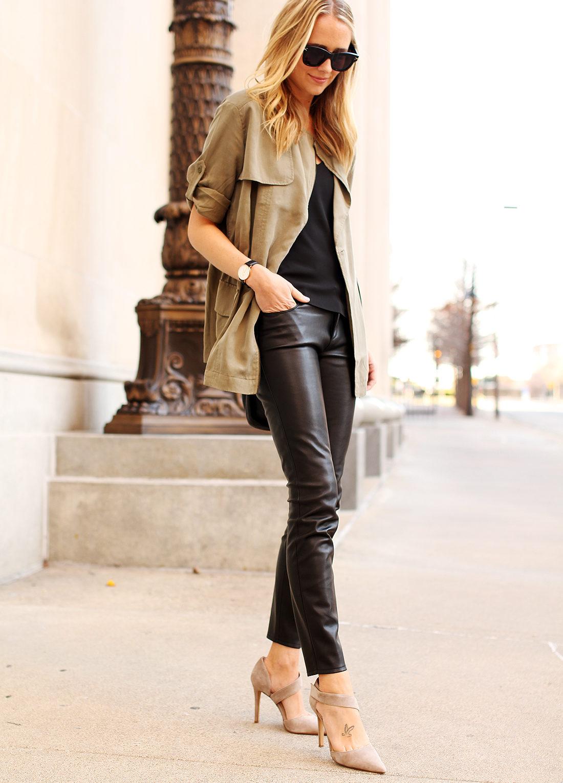 fashion-jackson-banana-republic-drapey-drawstring-jacket-black-faux-leather-pants-vince-camuto-carlotte-pumps