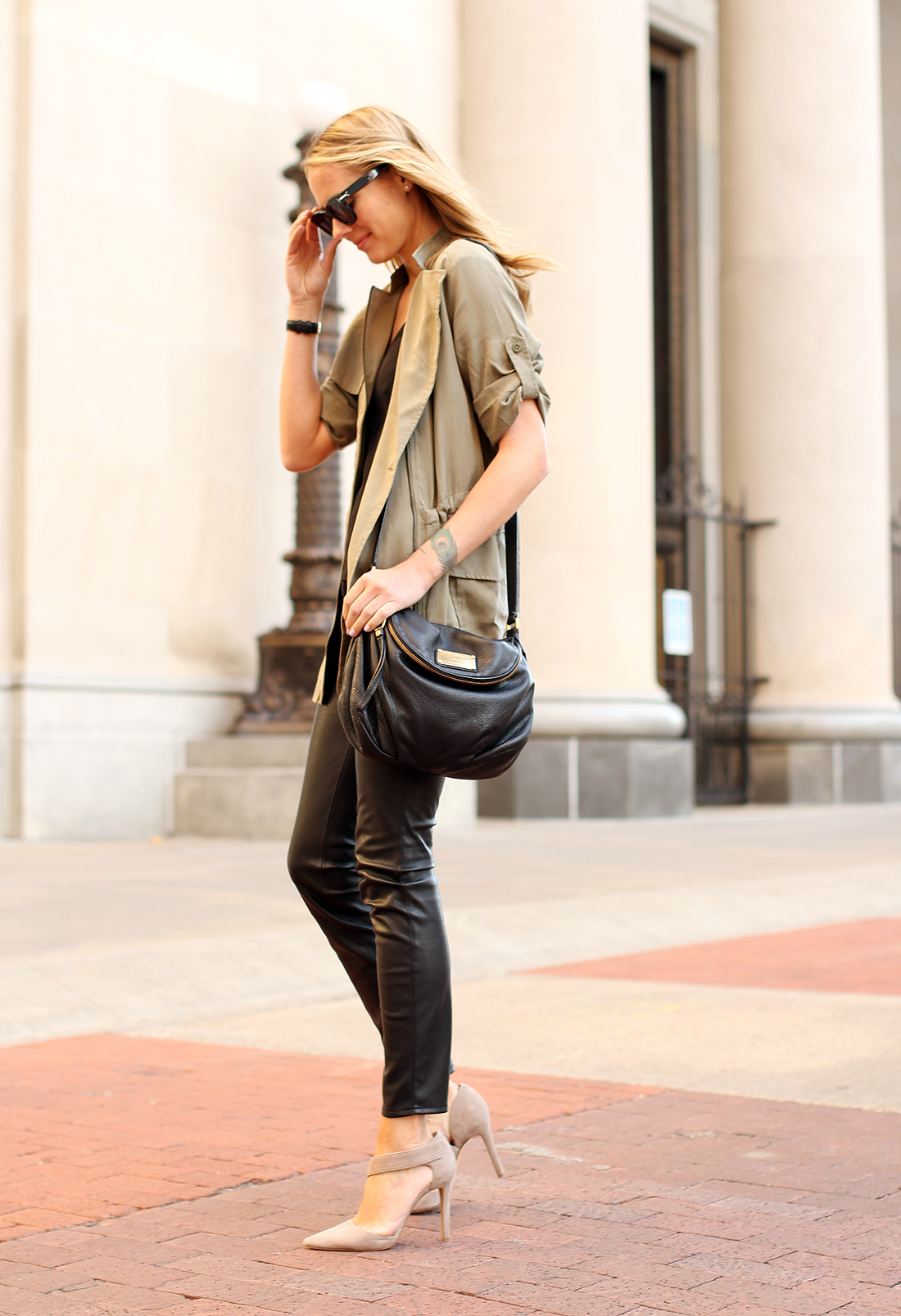 fashion-jackson-banana-republic-drapey-drawstring-jacket-black-faux-leather-pants-vince-camuto-carlotte-pumps-marc-by-marc-jacobs-natasha-q-handbag