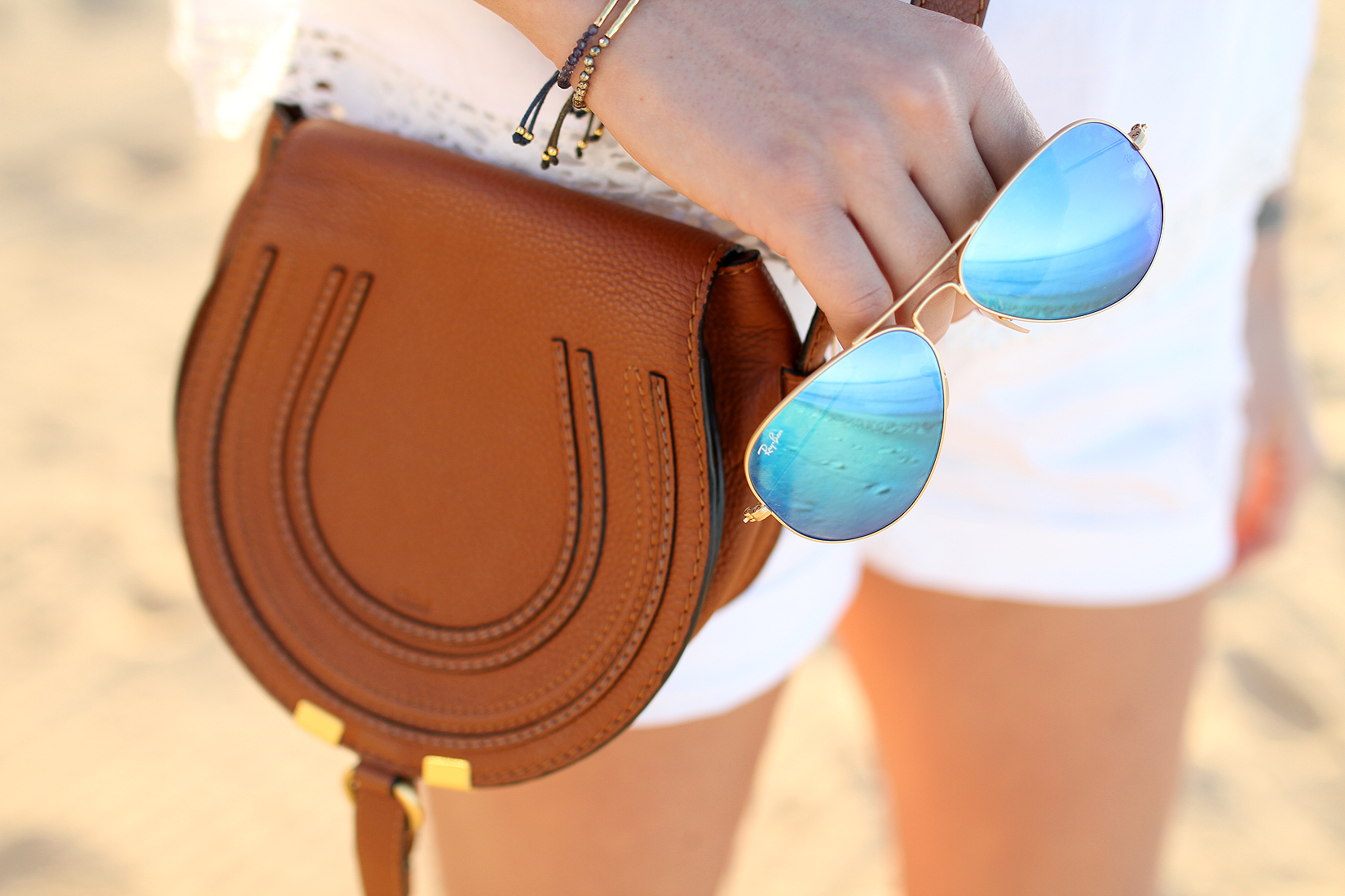 fashion-jackson-chloe-marcie-crossbody-tan-ray-ban-blue-mirror-sunglasses