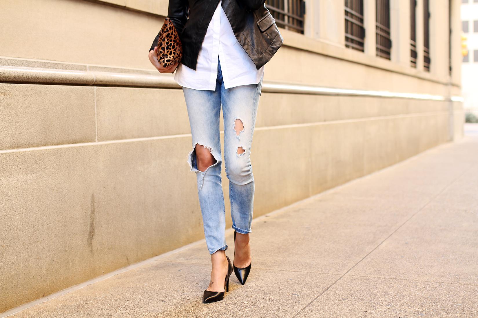 fashion-jackson-denim-ripped-skinny-jeans-black-pumps-leopard-clutch