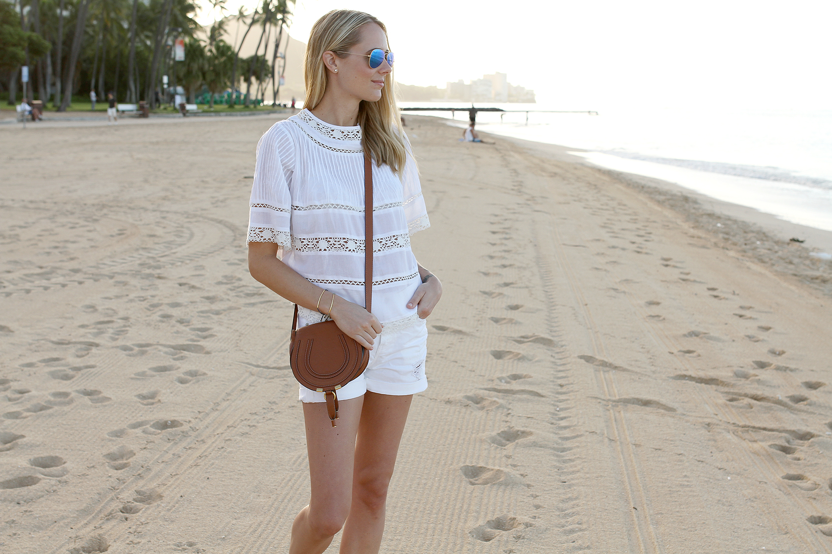 fashion-jackson-white-lace-top-white-shorts
