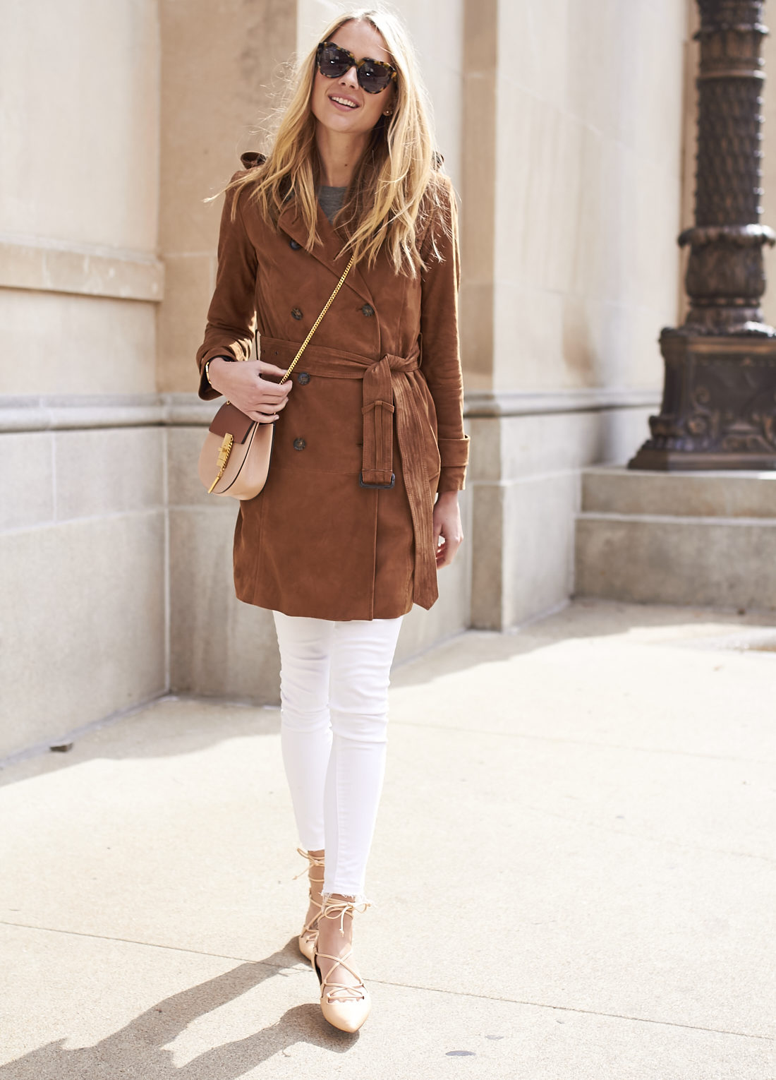 fashion-jackson-banana-republic-suede-trench-coat-chloe-drew-crossbody-karen-walker-number-one-sunglasses-white-skinny-jeans-nude-lace-up-flats