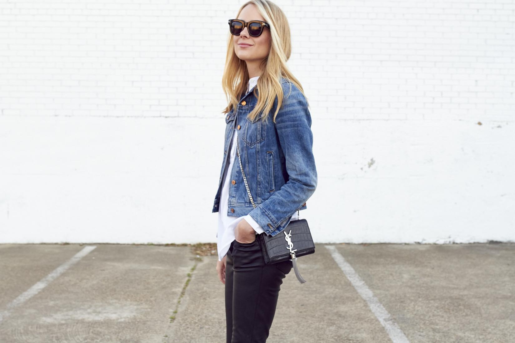 fashion-jackson-celine-sunglasses-jcrew-denim-jacket-saint-laurent-handbag