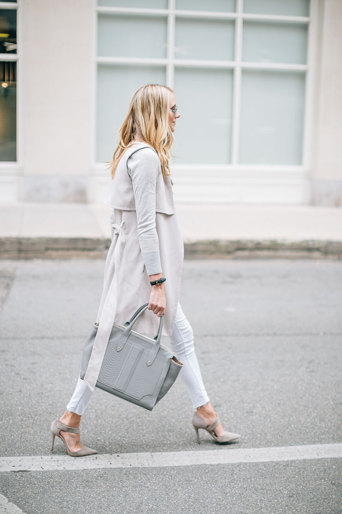 fashion-jackson-gigi-new-york-grey-tote-club-monaco-trench-vest-white-skinny-jeans-grey-sweater