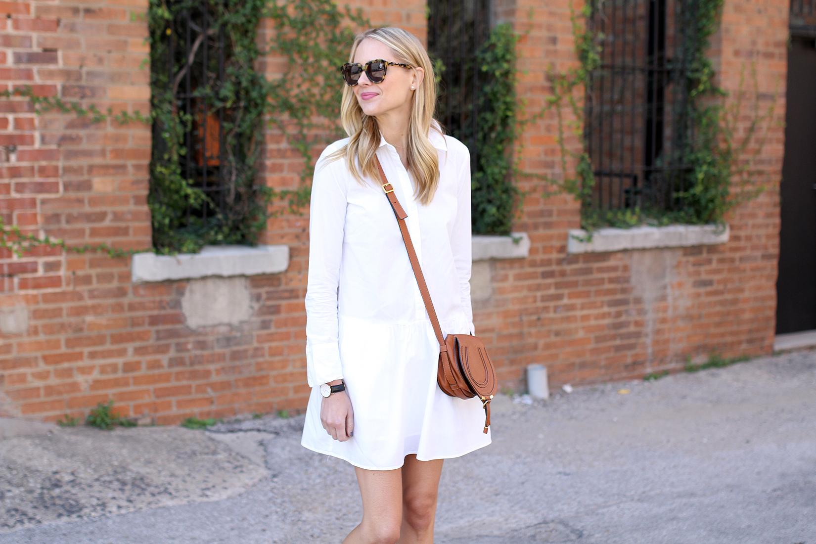 fashion-jackson-splendid-damsel-white-shirt-dress-karen-walker-sunglasses-chloe-marcie-tan-crossbody