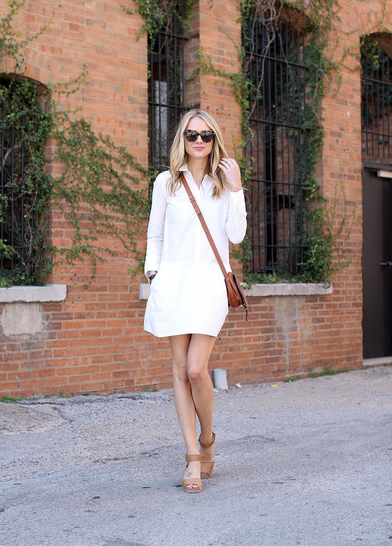 fashion-jackson-splendid-damsel-white-shirt-dress-sorel-joanie-sandals-karen-walker-sunglasses-chloe-marcie-tan-crossbody