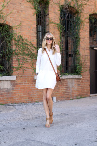 Little White Shirt Dress Fashion Jackson