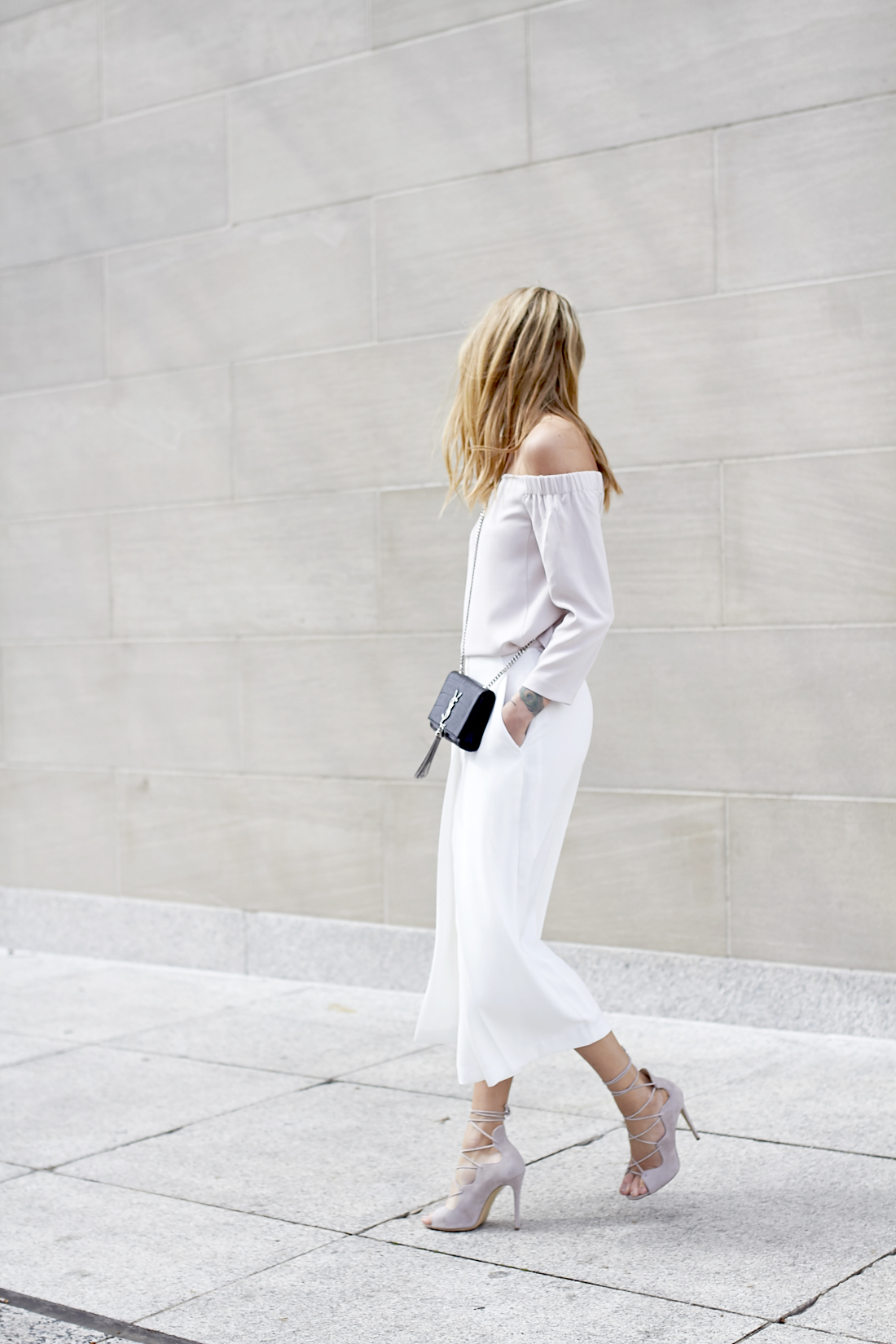 fashion-jackson-white-culottes-off-the-shoulder-top-mgemi-marea-lace-up-heels