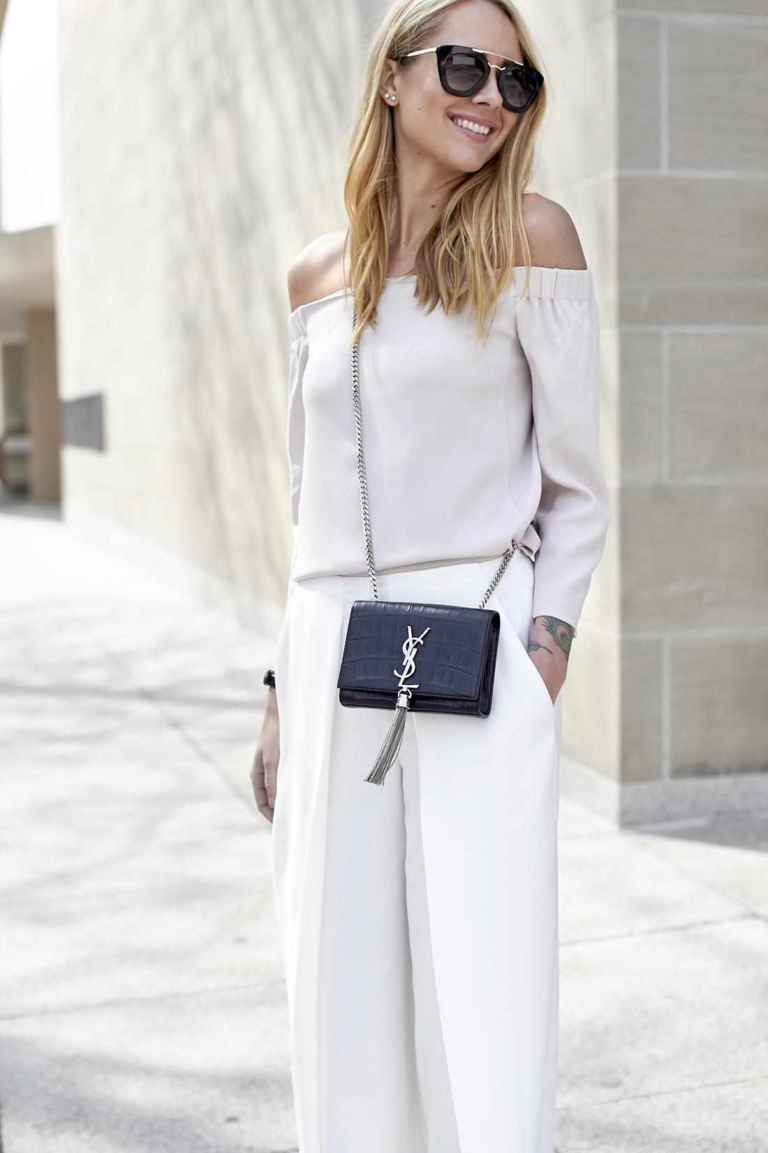 fashion-jackson-white-culottes-saint-laurent-monogram-crossbody-prada-retro-sunglasses-off-the-shoulder-top