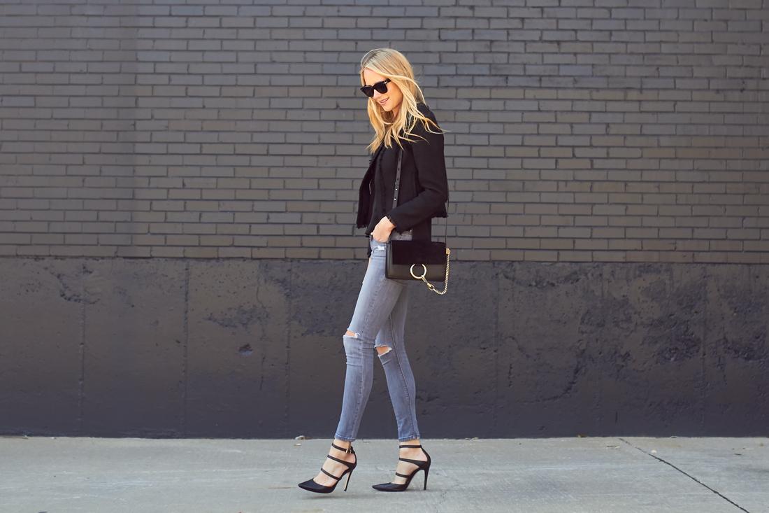 fashion-jackson-black-tweed-jacket-grey-ripped-skinny-jeans-triple-strap-pumps-chloe-raye-handbag