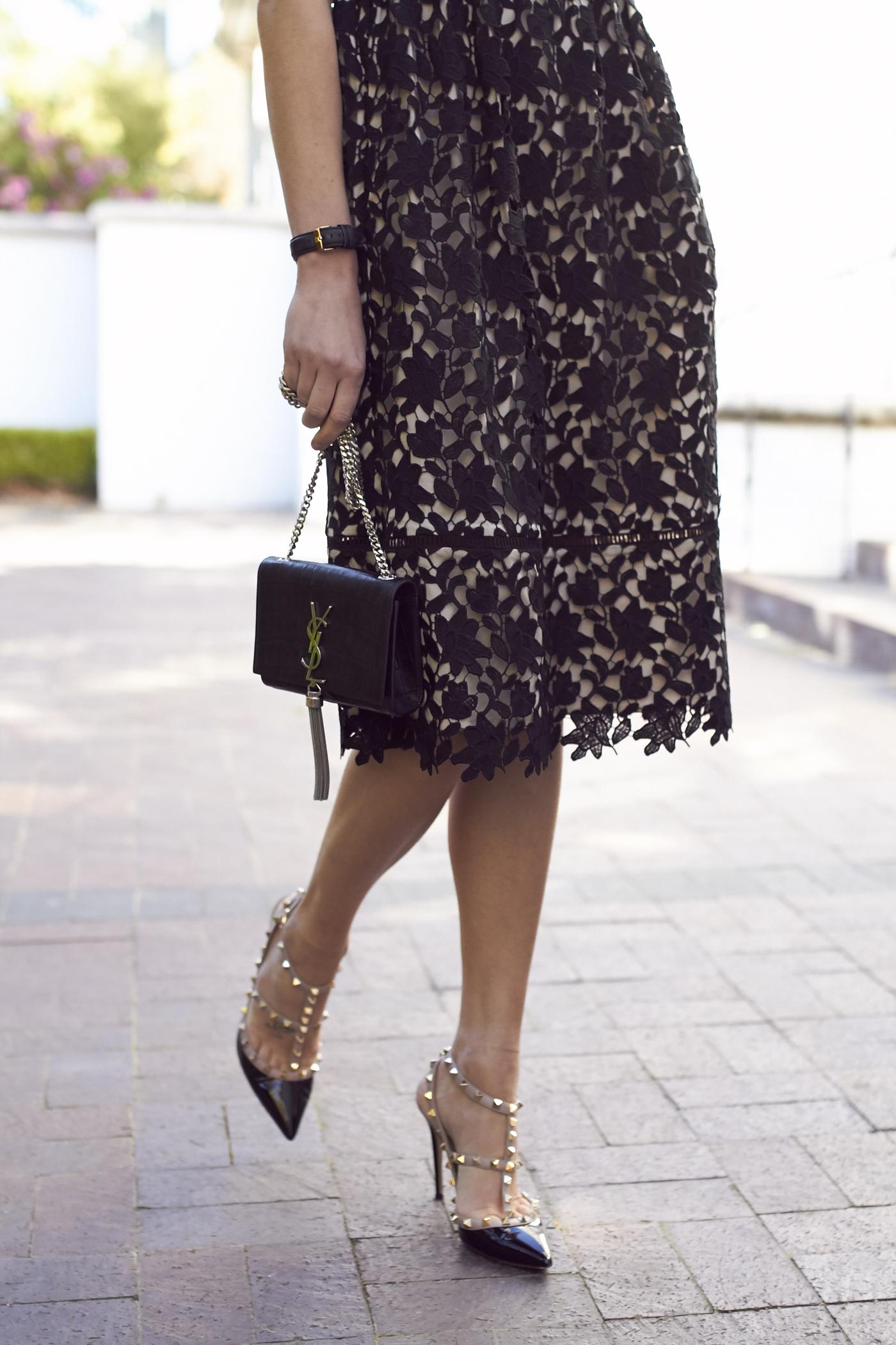 Black Lace Dress Fashion Jackson