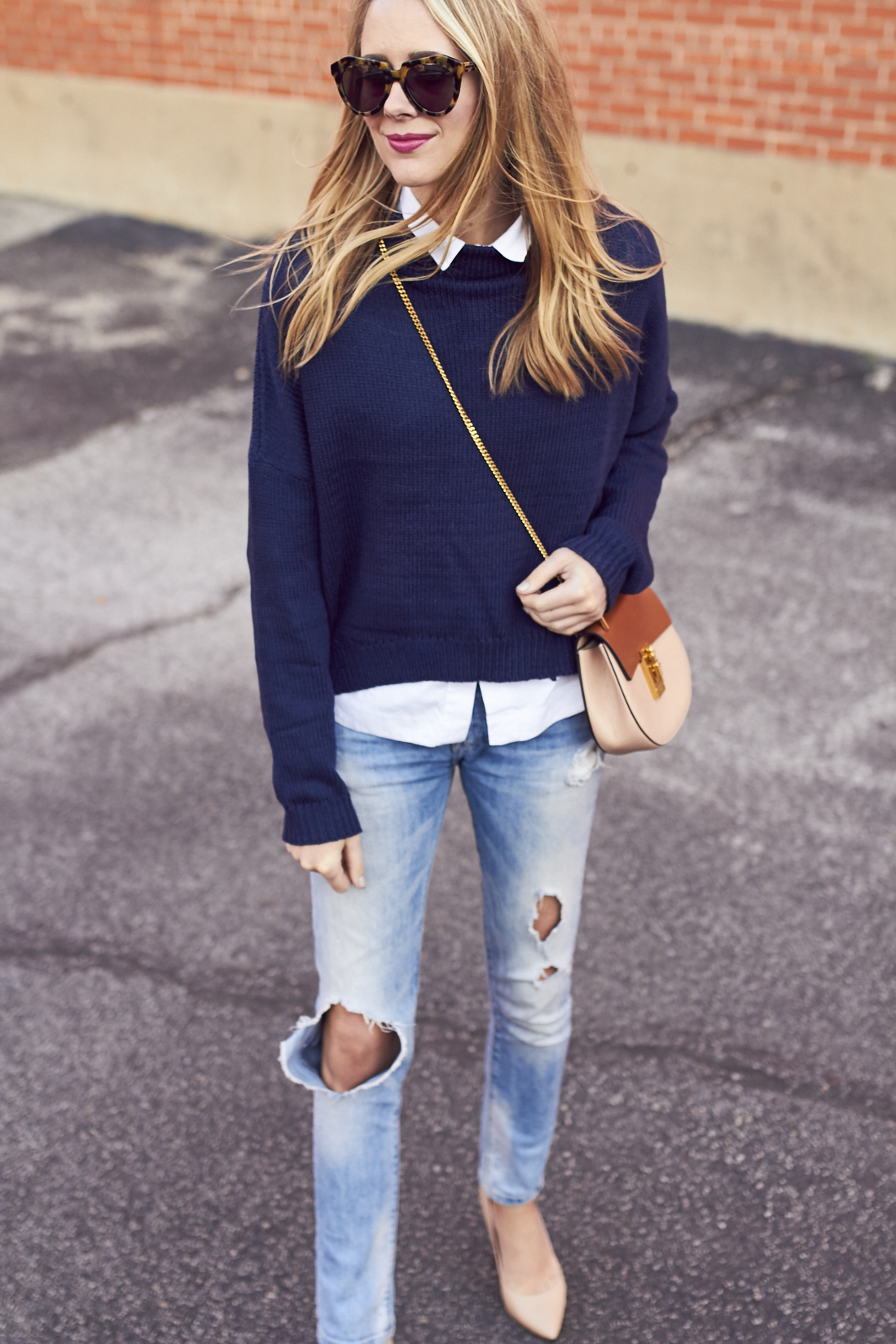 OVERSIZED NAVY SWEATER | Fashion Jackson