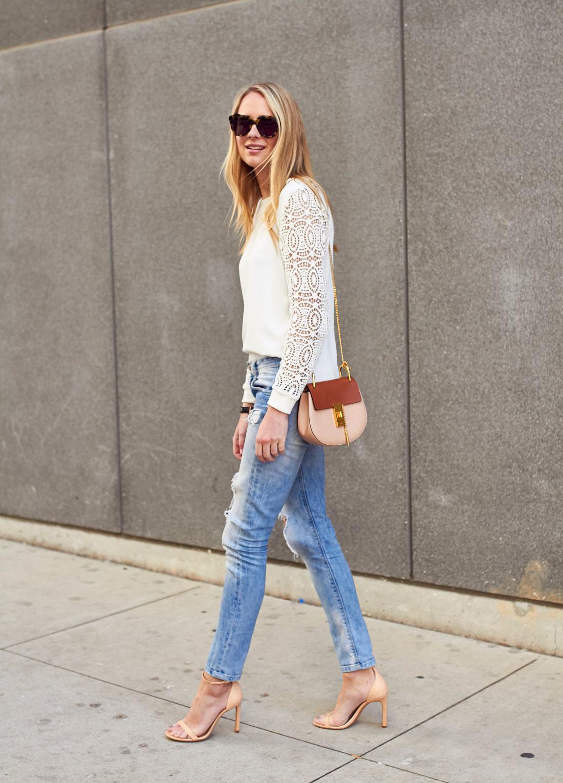 fashion_jackson_tortoise_sunglasses_loft_white_lace_sleeve_blosue_ripped_denim_skinny_jeans_nude_ankle_strap_heels_chloe_drew_handbag